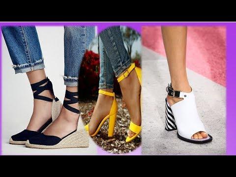 ОБУВЬ  весна -лето 2019/2018 💜women's Shoes Fashion 2018/2019💜 МОДНЫЕ ЖЕНСКИЕ ТУФЛИ 💜 И О НОСОЧКАХ