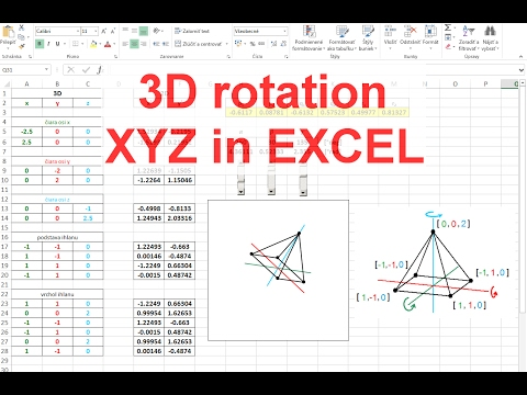 Excel 3d rotation of xyz objects and coordinates youtube excel 3d rotation of xyz objects and coordinates ccuart Images