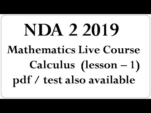 Live Classes for NDA 2 2019 Mathematics Calculus lesson - 1 \ complete course for nda exam thumbnail