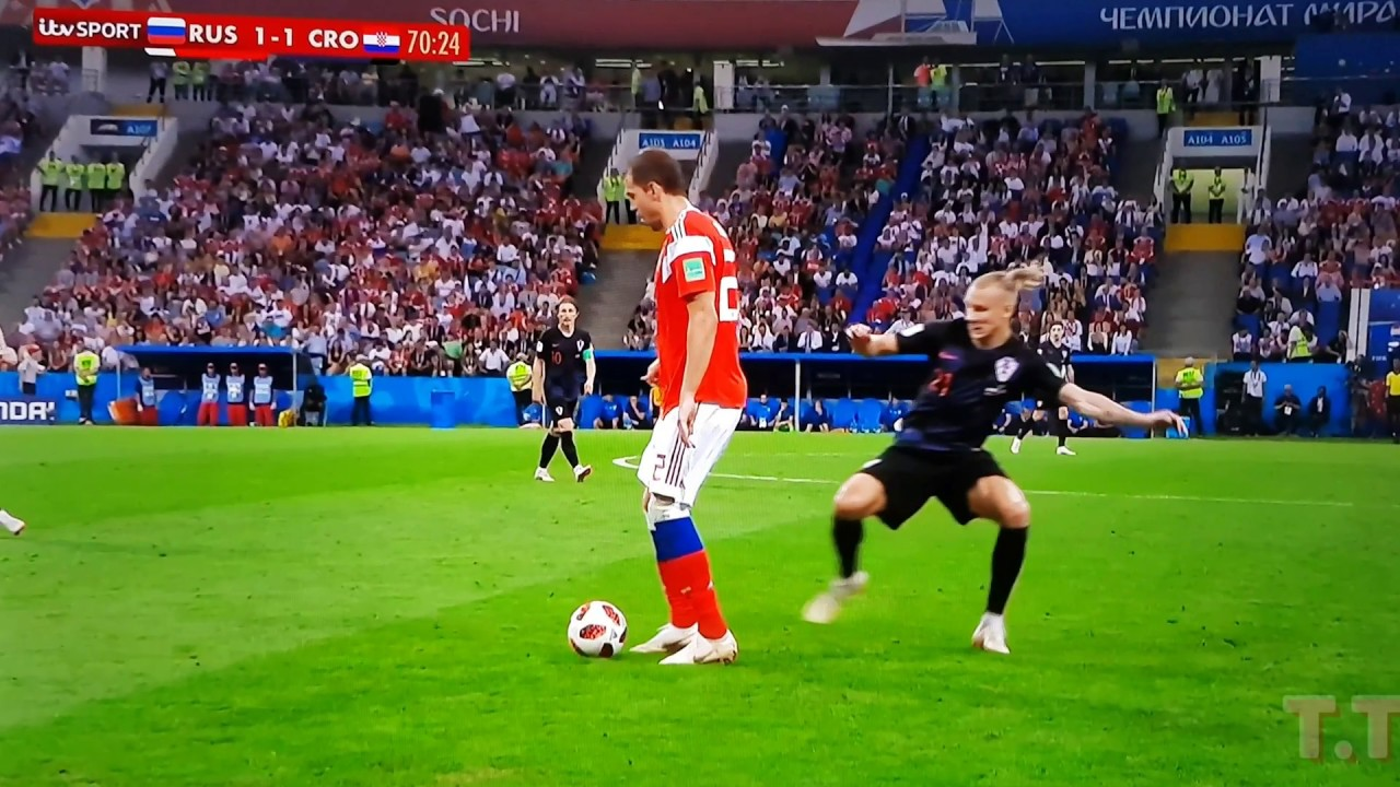 Sneaky Play by Artem Dzyubathe on Domagoj Vida
