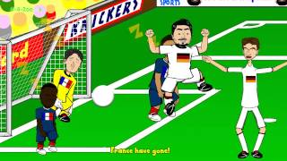 🇫🇷FRANCE vs GERMANY 0-1🇩🇪 HIGHLIGHTS by 442oons (4.7.14 World Cup Cartoon Hummels)