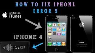 iphone  error 9 iphone 4 iphone 4s iphone 6 iphone 5 iphone 7 fix
