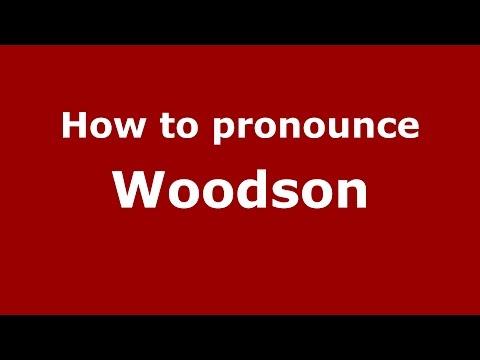 How to pronounce Woodson (American English/US)  - PronounceNames.com