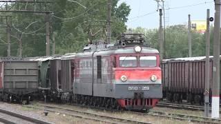 Остановка электровоза ВЛ10-269 с грузовым поездом