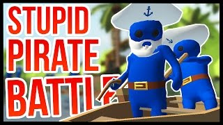 REALLY STUPID PIRATE BATTLE! | Stupid Raft Battle Simulator - Funny Moments Gameplay