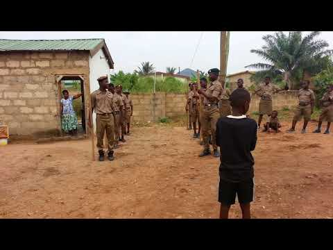 23rd Accra Garrison Scout Group drill   slow march