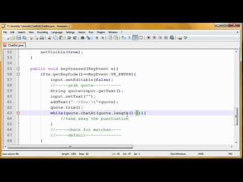 """Chat Bot"" Java Tutorial"