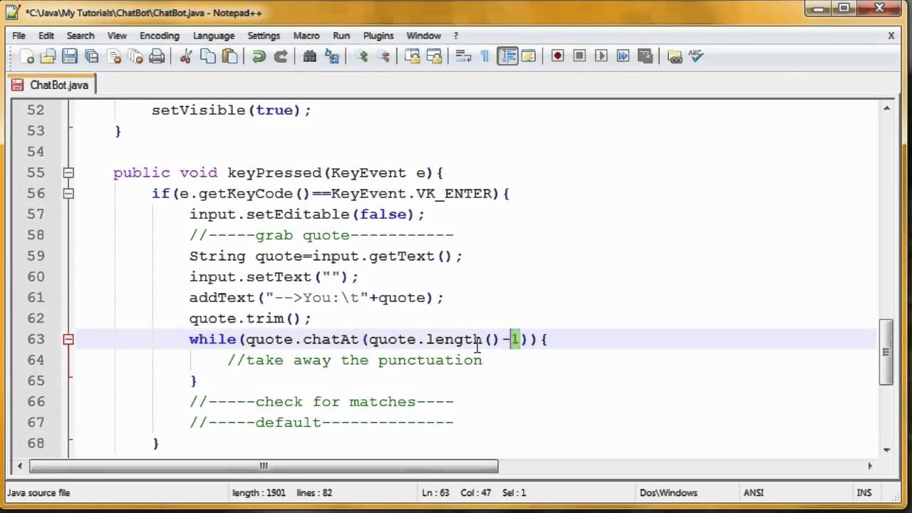 chat bot java tutorial chat bot java tutorial