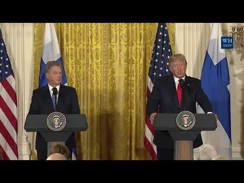 Press Conference: Donald Trump Press Conference Sauli Niinistö of Finland - August 28, 2017