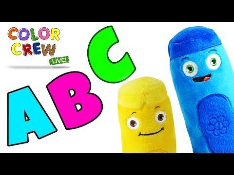 Learn Color Big Bus Cars Superheroes Cartoon Animation For
