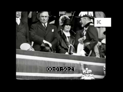 1920s UK Royal Family, King George V, Queen Mary, Elizabeth Bowes Lyons, HD
