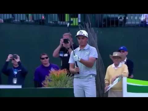 Rickie Fowler fires up the crowd at the Phoenix Open