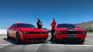 უხეში ტესტ დრაივი - Dodge Challenger SRT vs SRT HELLCAT - ჯოჯოხეთის კატა!