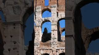 Vertical video. Colosseum, Top. Rome, Italy