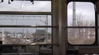 弘南鉄道 弘南線 黒石→弘前【後面展望】 2017.4.8
