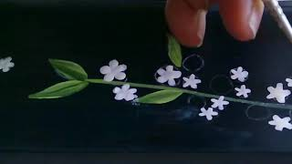 Painting Jasmine Flowers on A Vintage Wooden Wall Frame | Homedecor Ideas | DIY | Art Timelapse