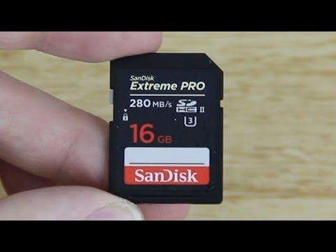 SanDisk Extreme PRO SDHC/SDXC UHS-II U3 Memory Card Unboxing! (280MB/s)