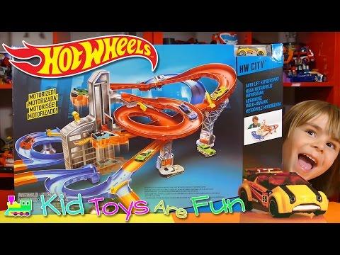 Hot Wheels Auto Lift Expressway Track Set - Kid Toys Are Fun