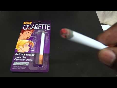 ✅  How To Use Puff Fake Prop Toy Cigarettes Review