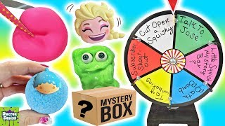 Wheel of Squish! Cutting Open Squishy Toys And Blind Bags FUN! Doctor Squish