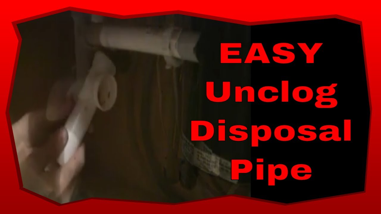 Diy Plumbing Kitchen Repair How To Unclog Garbage Disposal
