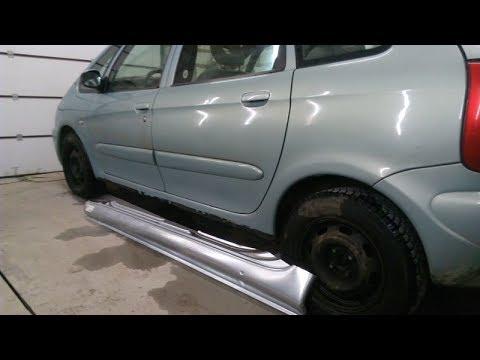 Citroen Xsara Picasso часть 1 . ремонт порогов , как избавиться от ржавчины.
