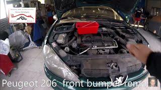 Peugeot 206  front bumper removal