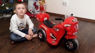 видео Трёх колёсный детский мотоцикл