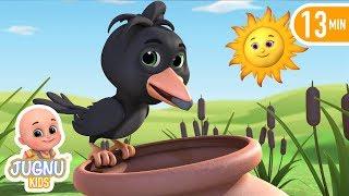 Pyasa kauwa | Thirsty crow | Hindi Story | Story time by Jugnu Kids