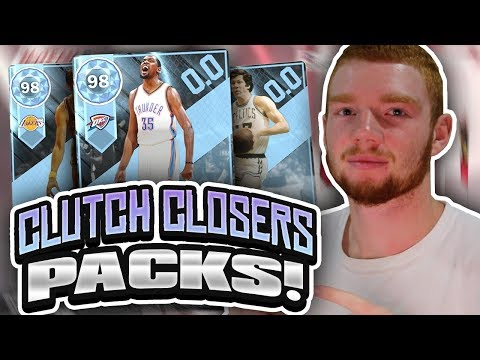 CLUTCH CLOSERS PROMO PACK OPENING! DIAMOND PULL!! (NBA 2K18 MYTEAM)