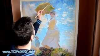 Monet - Woman with a Parasol | Art Reproduction Oil Painting