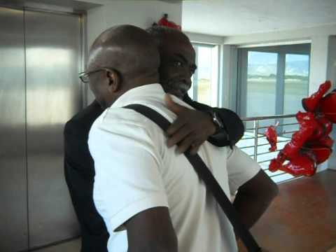 LEGENDARY 'LES SKAH SHAH' MAESTRO WARMLY WELCOMED BY AIRPORT OFFICIALS IN HAITI