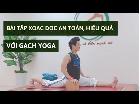 Hướng dẫn bài tập Yoga xoạc dọc an toàn, hiệu quả với dụng cụ Gạch Yoga | Đặng Kim Ba