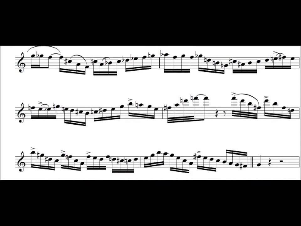 Michael Brecker I Mean You Tenor Sax Solo Jazz Transcription