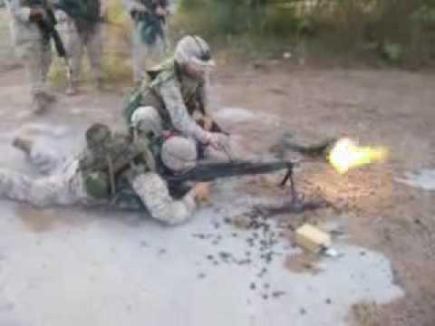 Marines firing the mediam range M240G