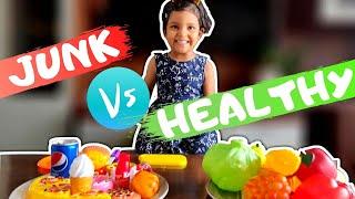 Healthy Food vs Junk Food for Kids