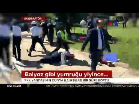 Erdoğan-Trump görüşmesi öncesi PKK/PYD yandaşları Beyaz Saray önünü karıştırdı