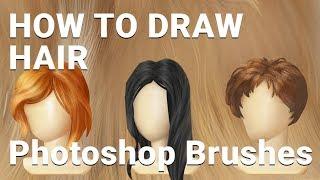 Как рисовать волосы/ создаем кисть в фотошопе