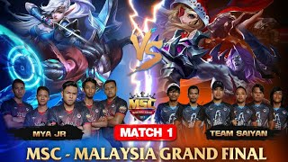 MSC MALAYSIA FINAL MATCH 1 : MYA JR VS TEAM SAIYAN - Mobile Legends MSC