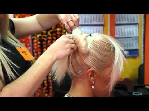 Причёска для свидетельницы Бантик
