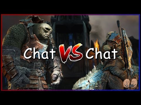 PIT FIGHTING COMPETITION - Chat vs Chat - Introvert VS Extrovert | Shadow of War