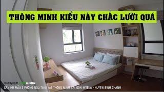 Căn hộ mẫu 3 phòng ngủ 78,01m2 thông minh Saigon Intela, Nguyễn Văn Linh, Bình Chánh - Land Go Now ✔