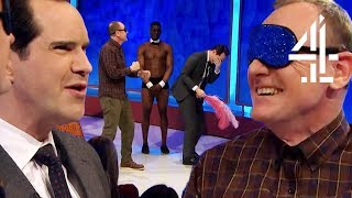 """Don't Feel ME!"" Blindfolded Sean Lock & Alan Carr Cause CHAOS!! 