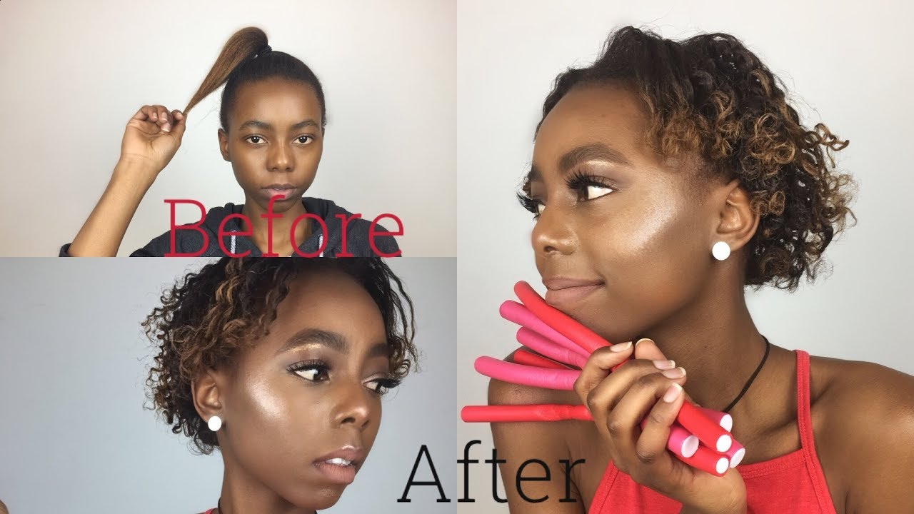 Fastest Way To Curl Hair Using Flexi Rods Non Heating Method