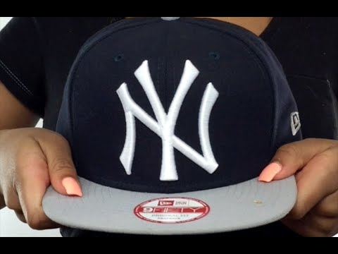 sports shoes 2e26b 834cf Yankees  LOGO GRAND REDUX SNAPBACK  Navy-Grey Hat by New Era