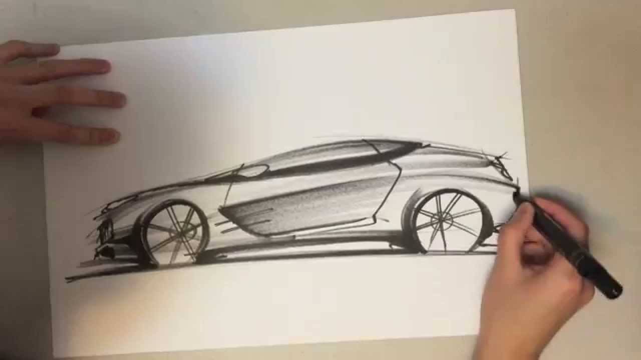 How to Draw a Car & Drawing and Sketching Tutorial - YouTube
