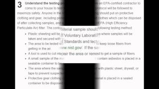 Asbestos test