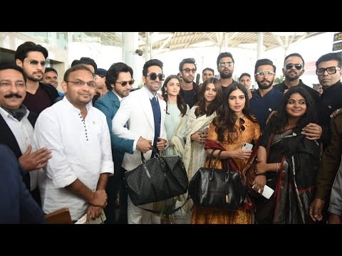 Alia,Ranbir,Ranveer,Varun,Ayushman,Sidharth & other B-town celebs at Delhi Airport to Meet PM Modi Mp3