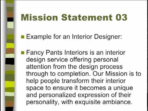 Interior Design Vision Statement