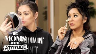 Snooki & JWoww Learn Budget Beauty Tips 💄 | Moms with Attitude | MTV